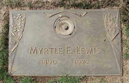 LEWIS, MYRTLE E - Polk County, Oregon   MYRTLE E LEWIS - Oregon Gravestone Photos