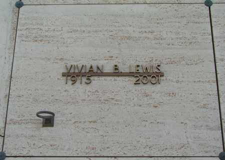LEWIS, VIVIAN BERNICE - Polk County, Oregon   VIVIAN BERNICE LEWIS - Oregon Gravestone Photos
