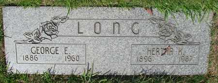 LONG, GEORGE E - Polk County, Oregon | GEORGE E LONG - Oregon Gravestone Photos