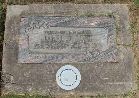 LONG, JANET D - Polk County, Oregon | JANET D LONG - Oregon Gravestone Photos