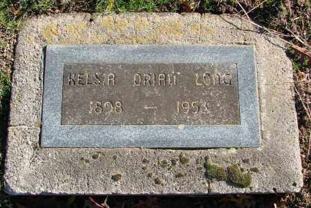 LONG, KELSIA ORIAN - Polk County, Oregon   KELSIA ORIAN LONG - Oregon Gravestone Photos