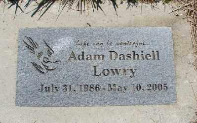 LOWRY, ADAM DASHIELL - Polk County, Oregon   ADAM DASHIELL LOWRY - Oregon Gravestone Photos