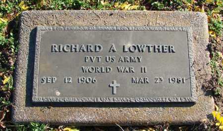 LOWTHER (WWII), RICHARD A - Polk County, Oregon | RICHARD A LOWTHER (WWII) - Oregon Gravestone Photos