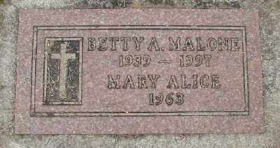 MALONE, MARY ALICE - Polk County, Oregon | MARY ALICE MALONE - Oregon Gravestone Photos