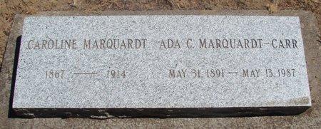 ROLAND MARQUARDT-CARR, ADA CLARA - Polk County, Oregon   ADA CLARA ROLAND MARQUARDT-CARR - Oregon Gravestone Photos