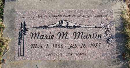 MARTIN, MARIE M - Polk County, Oregon   MARIE M MARTIN - Oregon Gravestone Photos