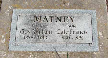 MATNEY, GALE FRANCIS - Polk County, Oregon | GALE FRANCIS MATNEY - Oregon Gravestone Photos