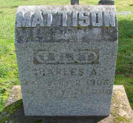 MATTISON, CHARLES A - Polk County, Oregon | CHARLES A MATTISON - Oregon Gravestone Photos