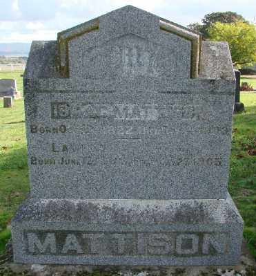 MATTISON, LAVINE - Polk County, Oregon | LAVINE MATTISON - Oregon Gravestone Photos