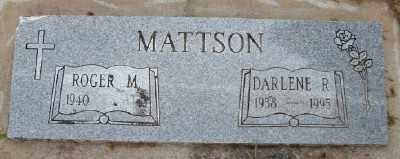 MATTSON, DARLENE R - Polk County, Oregon | DARLENE R MATTSON - Oregon Gravestone Photos