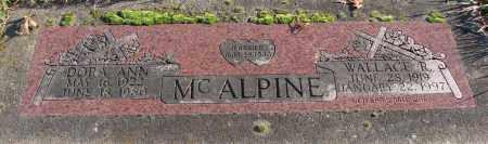 MCALPINE, DORA ANN - Polk County, Oregon | DORA ANN MCALPINE - Oregon Gravestone Photos