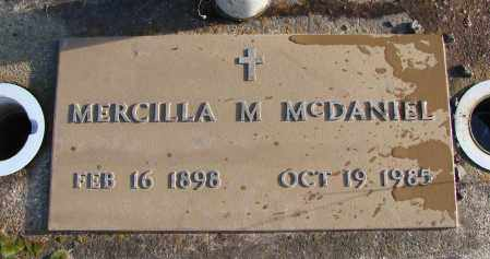 TAYLOR MCDANIEL, MERCILLA MARTHA - Polk County, Oregon | MERCILLA MARTHA TAYLOR MCDANIEL - Oregon Gravestone Photos
