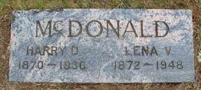 MCDONALD, LENA V - Polk County, Oregon | LENA V MCDONALD - Oregon Gravestone Photos