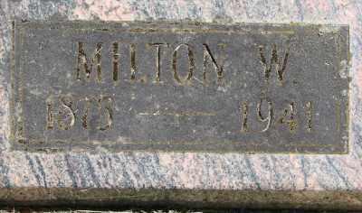 MCGOWAN, MILTON WILLIAM - Polk County, Oregon   MILTON WILLIAM MCGOWAN - Oregon Gravestone Photos