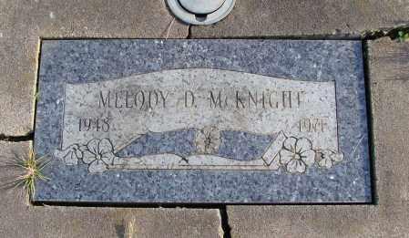MCKNIGHT, MELODY D - Polk County, Oregon | MELODY D MCKNIGHT - Oregon Gravestone Photos