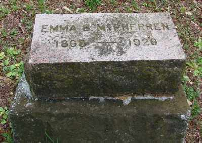 MCPHERREN, EMMA B - Polk County, Oregon | EMMA B MCPHERREN - Oregon Gravestone Photos