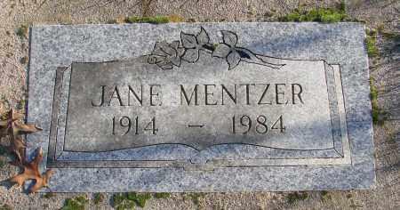 MENTZER, JANE - Polk County, Oregon | JANE MENTZER - Oregon Gravestone Photos
