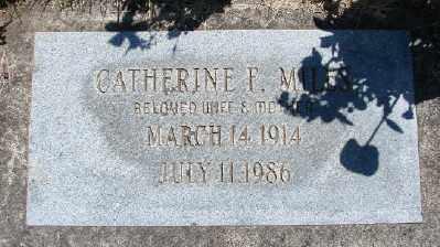 MILES, CATHERINE F - Polk County, Oregon   CATHERINE F MILES - Oregon Gravestone Photos