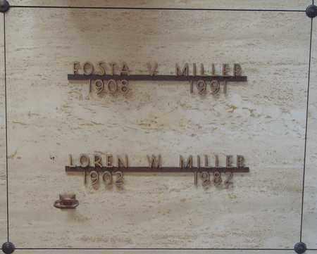 MILLER, FOSTA VELMA - Polk County, Oregon | FOSTA VELMA MILLER - Oregon Gravestone Photos