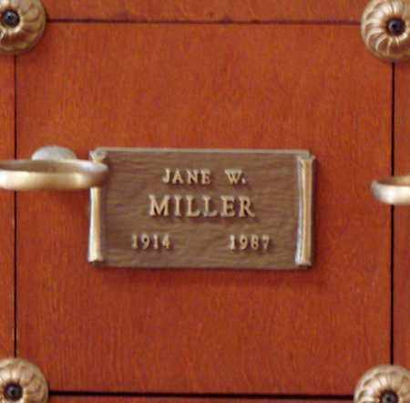 MILLER, JANE W - Polk County, Oregon | JANE W MILLER - Oregon Gravestone Photos