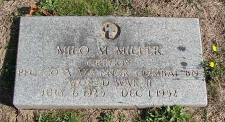 MILLER, MILO M - Polk County, Oregon | MILO M MILLER - Oregon Gravestone Photos