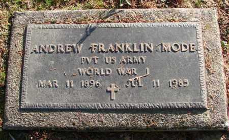 MODE (WWI), ANDREW FRANKLIN - Polk County, Oregon | ANDREW FRANKLIN MODE (WWI) - Oregon Gravestone Photos