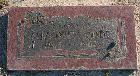 MODE, ELIZABETH - Polk County, Oregon | ELIZABETH MODE - Oregon Gravestone Photos