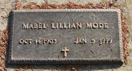 MODE, MABEL LILLIAN - Polk County, Oregon   MABEL LILLIAN MODE - Oregon Gravestone Photos