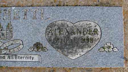 MOSCHETTI, ALEXANDER - Polk County, Oregon | ALEXANDER MOSCHETTI - Oregon Gravestone Photos
