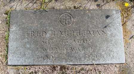 MUHLEMAN (WWI), FRED J - Polk County, Oregon | FRED J MUHLEMAN (WWI) - Oregon Gravestone Photos
