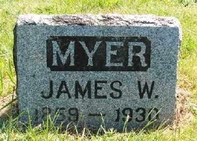 MYER, JAMES W - Polk County, Oregon | JAMES W MYER - Oregon Gravestone Photos