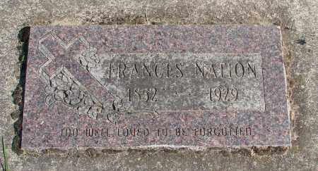 NATION, FRANCES - Polk County, Oregon | FRANCES NATION - Oregon Gravestone Photos