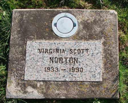 SCOTT NORTON, VIRGINIA - Polk County, Oregon   VIRGINIA SCOTT NORTON - Oregon Gravestone Photos