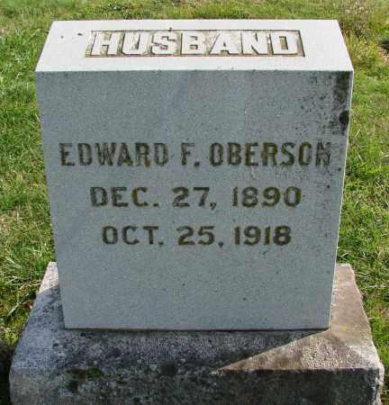 OBERSON, EDWARD F - Polk County, Oregon   EDWARD F OBERSON - Oregon Gravestone Photos