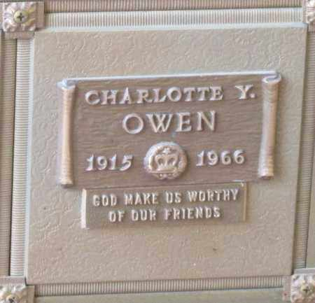OWEN, CHARLOTTE Y - Polk County, Oregon | CHARLOTTE Y OWEN - Oregon Gravestone Photos