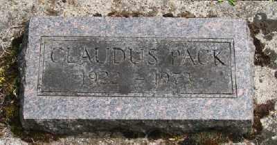 PACK, CLAUDUS - Polk County, Oregon | CLAUDUS PACK - Oregon Gravestone Photos