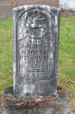 PERCIVAL, MAUD D - Polk County, Oregon | MAUD D PERCIVAL - Oregon Gravestone Photos