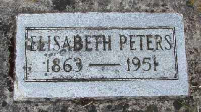 PETERS, ELISABETH - Polk County, Oregon   ELISABETH PETERS - Oregon Gravestone Photos