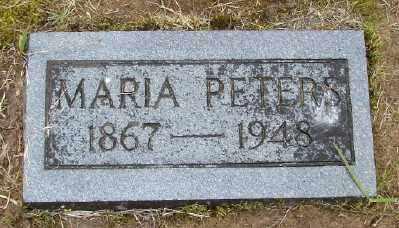 PETERS, MARIA - Polk County, Oregon   MARIA PETERS - Oregon Gravestone Photos