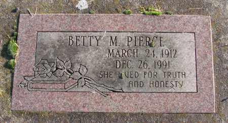 PIERCE, BETTY M - Polk County, Oregon | BETTY M PIERCE - Oregon Gravestone Photos