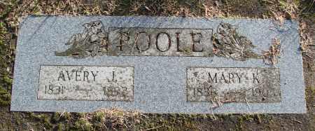 POOLE, AVERY J - Polk County, Oregon   AVERY J POOLE - Oregon Gravestone Photos