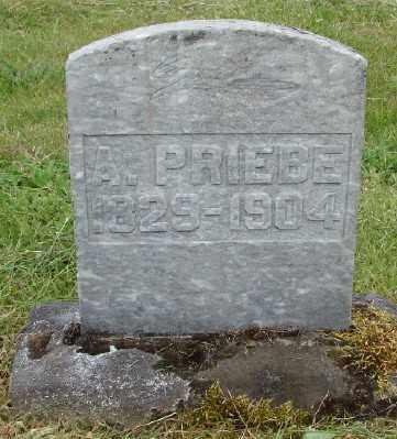 PRIEBE, A - Polk County, Oregon | A PRIEBE - Oregon Gravestone Photos