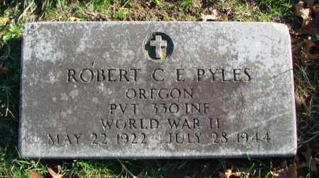 PYLES (WWII), ROBERT C E - Polk County, Oregon   ROBERT C E PYLES (WWII) - Oregon Gravestone Photos