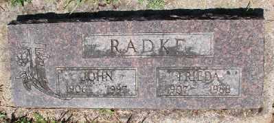 RADKE, JOHN - Polk County, Oregon | JOHN RADKE - Oregon Gravestone Photos
