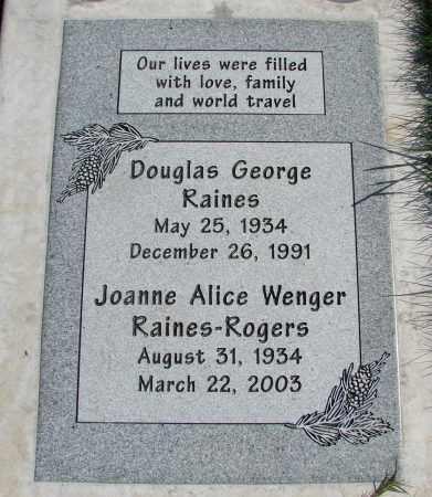 RAINES, DOUGLAS GEORGE - Polk County, Oregon | DOUGLAS GEORGE RAINES - Oregon Gravestone Photos