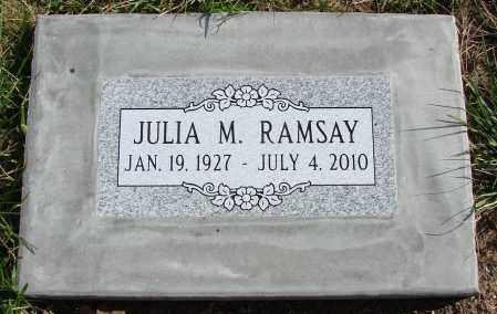 ROSS RAMSAY, JULIA M - Polk County, Oregon   JULIA M ROSS RAMSAY - Oregon Gravestone Photos