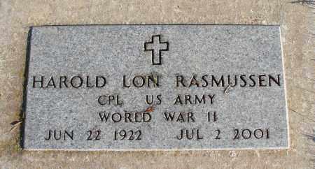 RASMUSSEN (WWII), HAROLD LON - Polk County, Oregon | HAROLD LON RASMUSSEN (WWII) - Oregon Gravestone Photos