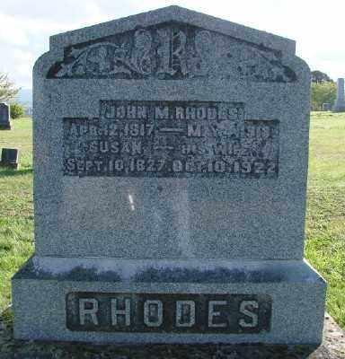 RHODES, JOHN M - Polk County, Oregon   JOHN M RHODES - Oregon Gravestone Photos