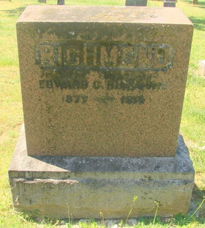 RICHMOND, EDWARD CLOW - Polk County, Oregon | EDWARD CLOW RICHMOND - Oregon Gravestone Photos
