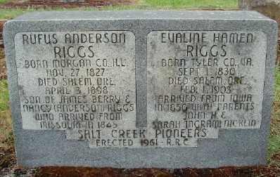 RIGGS, EVALINE HAMEN - Polk County, Oregon | EVALINE HAMEN RIGGS - Oregon Gravestone Photos